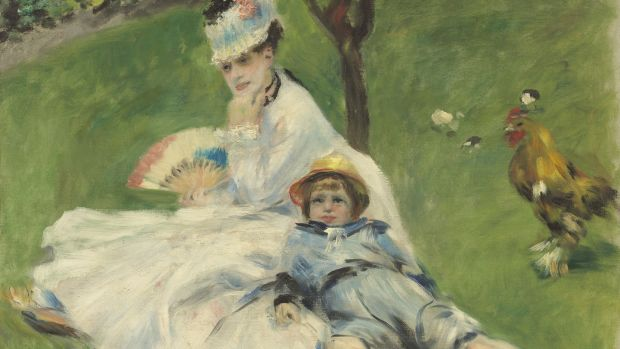 Pierre-Auguste Renoir's Madame Monet et son fils (1874). Courtesy of the National Gallery of Art, Washington