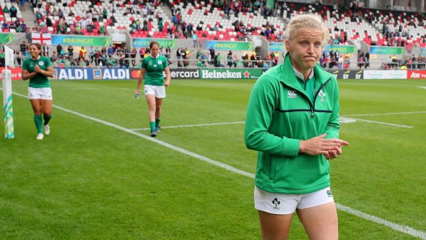 "Ireland captain Dr Claire Molloy criticised the IRFU on Twitter. ""Six Month part time is such a disappointment to hear when our Six Nations opposition excluding Italy have full time coaches. #leftbehind."" Photograph: Dan Sheridan/Inpho"