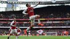 Aaron Ramsey put Arsenal in front after Swansea City took the lead at the Emirates. Photograph: Dan Mullan/Getty