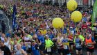 The start of the Dublin Marathon on Sunday. Photograph: Cyril Byrne