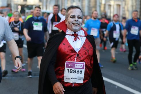 Image from the SSE Airtricity Dublin City Marathon 2017. Pictured is Gregory Ryan, Dublin. Photograph: Nick Bradshaw