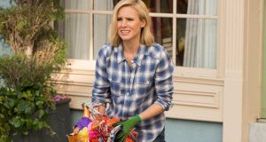 Kristen Bell  as Eleanor Shellstrop in The Good Place: her character is a narcissistic, shrimp-loving and boozy mé féiner