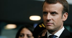 Emmanuel Macron: his reforms seek to impose high social charges on short-term contracts and offer lower charges for permanent jobs. Photograph: Etienne Laurent /EPA