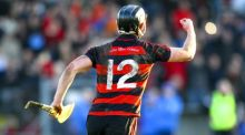 Pauric Mahony celebrates after scoring the winning point for Ballygunner against Thurles Sarsfields. Photograph: Ken Sutton/Inpho