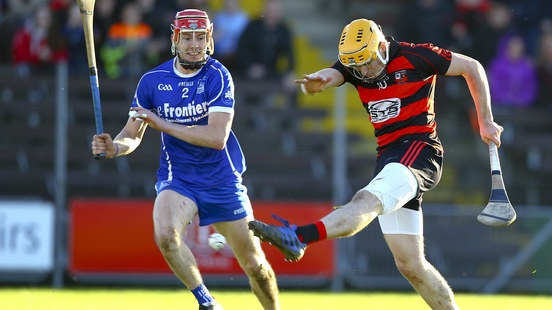 Peter Hogan kicks over a point for Ballygunner against Thurles Sarsfields. Photograph: Ken Sutton/Inpho