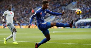 Demarai Gray scored one and made the other as Leicester beat Everton 1-0. Photograph: Darren Staples/Reuters