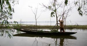Fishing and farming form the backbone of the rural economy in Hue. Photograph: Adrien le Coärer