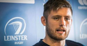 Ross Byrne at Leinster Rugby press conference.  Photograph:  ©INPHO/Oisin Keniry