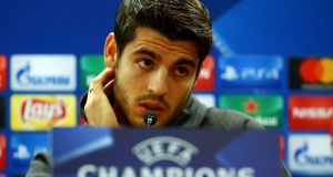 "Álvaro Morata: ""We had a problem of understanding in this interview."" Photograph: Alessandro Bianchi/Reuters"
