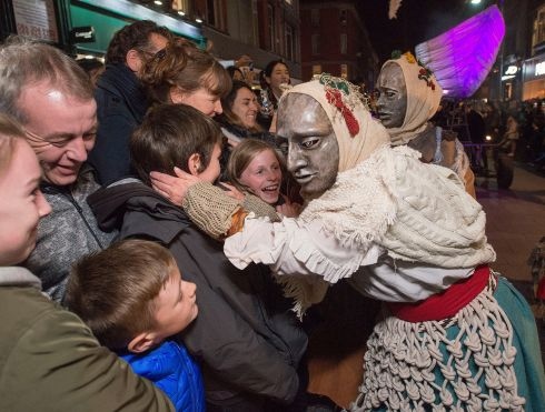 YOU'RE NEXT: The Bram Stoker Festival closes with a parade by Macnas through the streets of the city centre in Dublin. Photograph: Dave Meehan/The Irish Times