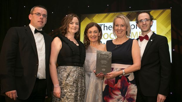 Siobhan O'Connor, MD, Codex Office Solutions presents the Procurement Excellence Award – Public Sector award to the FoodCloud Hubs team