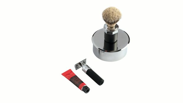 Marram Co Brush, Bowl and Razor Set (€410, The Marvel Room Brown Thomas)
