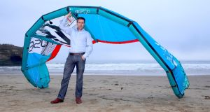 Philip McNamara,  organiser of the Achill Island CEO and venture capitalist  kitesurfing event  and VP of Voxpro