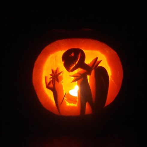 """Pumpkin Jack"" from the Nightmare Before Christmas, by Trudy Ahern and her daughter Lauren in Dublin"