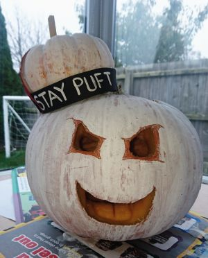"""Stay Puft"" from Ghostbusters, by Emma Peart, Dorset"