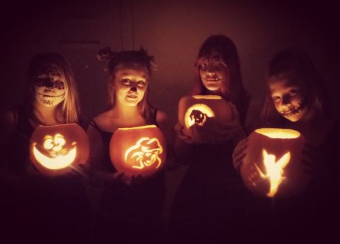 Emma Gough and her three friends in Herefordshire carved their favourite Disney characters.