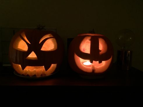 """Jack"" and ""Pumpkin Head"" by Jacques and Hugo O'Leary, Paris. ""We miss Ireland lots this time of year."""