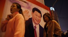 A roadside poster of Chinese president Xi Jinping,  in Beijing, last week: Under Xi, China is increasingly autocratic and illiberal. Photograph: Greg Baker/AFP/Getty Images