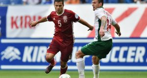 Riza Durmisi in action for Denmark against Bulgaria last year. Photograph: Atsushi Tomura/Getty Images