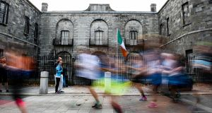 'As the thousands passed Kilmainham Gaol, near my house (and the marathon's 12-mile mark), I made as much noise for them as possible.' Photograph:  David Fitzgerald/Sportsfile