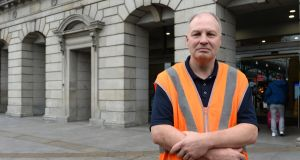 "Tom Dempsey outside Heuston Station, Dublin: ""The Luas drivers put up a good fight to get what they wanted but I just hope that our dispute doesn't last as long."" Photograph: Brenda Fitzsimons"