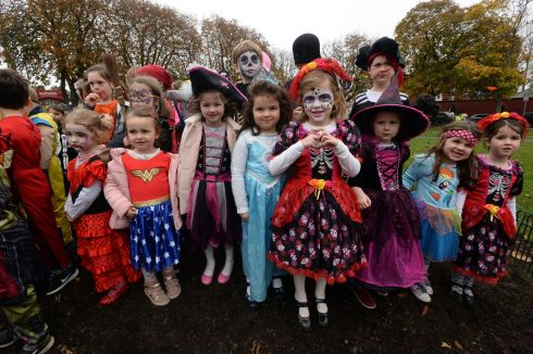 The scene at Sandymount during the Tidy Towns Community Association Halloween Pumpkin Scarecrow Festival at the weekend. Photograph: Cyril Byrne/The Irish Times