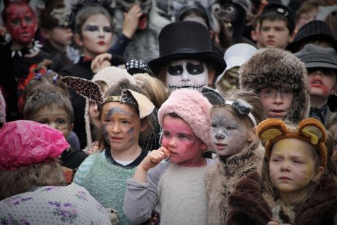 Kilmeen NS children get into character for the annual Clonakilty Halloween takeover. Photograph: Kenneth McCarthy