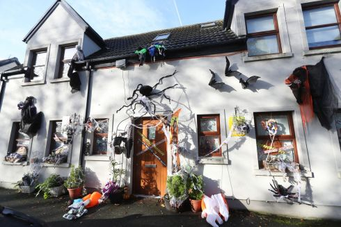 A house in the village of Summerhill in Co Meath covered in Halloween decorations. Photograph: Niall Carson/PA Wire
