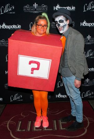 Fionna Lawlor and Matthew Pearse at the annual Hotspots.ie Halloween party at Lillie's Bordello on Grafton Street