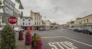Market Square looking down Main Street Ballaghaderreen, Co  Rocommon. Photograph: Brenda Fitzsimons