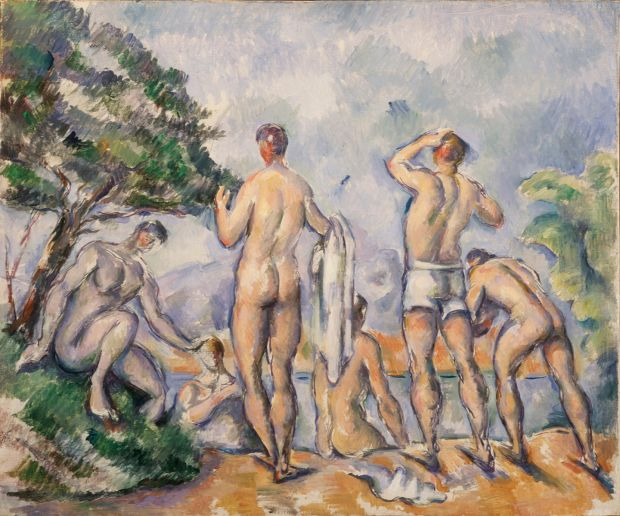 Paul Cézanne's Baigneurs. Courtesy of Saint Louis Art Museum