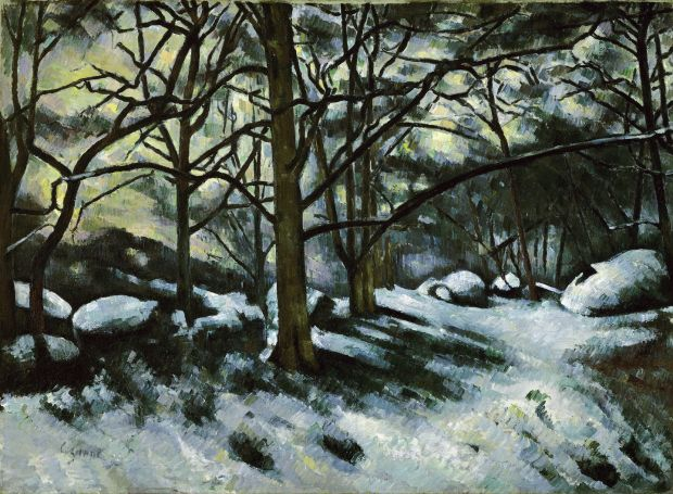 Paul Cezanne's Melting Snow, Fontainebleau, 1879-80. Courtesy of . New York, Museum of Modern Art (MoMA)