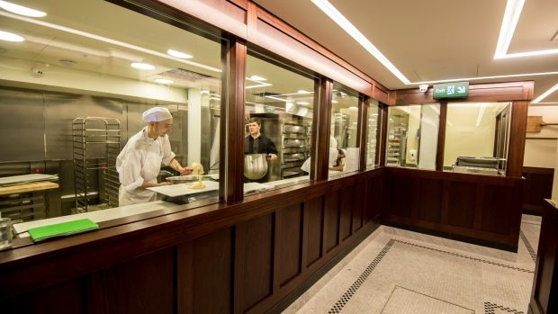 The in-house bakery is visable to patrons. Photograph: Brenda Fitzsimons
