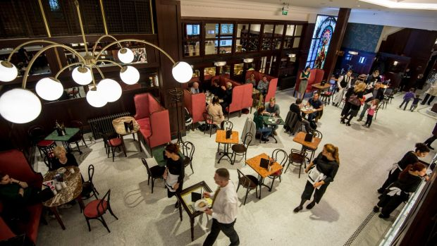 It will be table service only in the newly reopened Bewley's Cafe, so no more clattering of trays. Photograph: Brenda Fitzsimons
