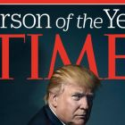 Time December 19th, 2016 issue: Donald Trump is named Person of the Year. Photograph: Time/EPA