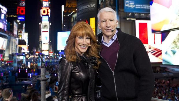 Severed relationship: Kathy Griffin with Anderson Cooper on a CNN New Year's Eve special