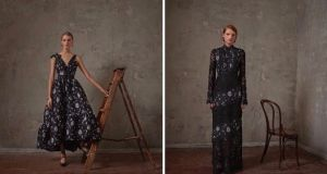 For this H&M collection Erdem has kept to his signature dreamy dresses where floral motifs abound in richly textured shapes.