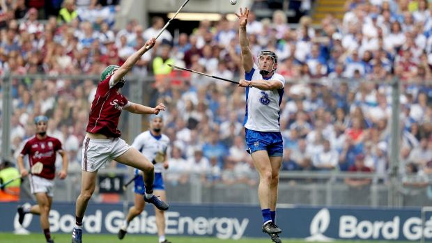 Waterford's Kevin Moran catches a high ball during the All-Ireland final. Photo: Tommy Dickson/Inpho