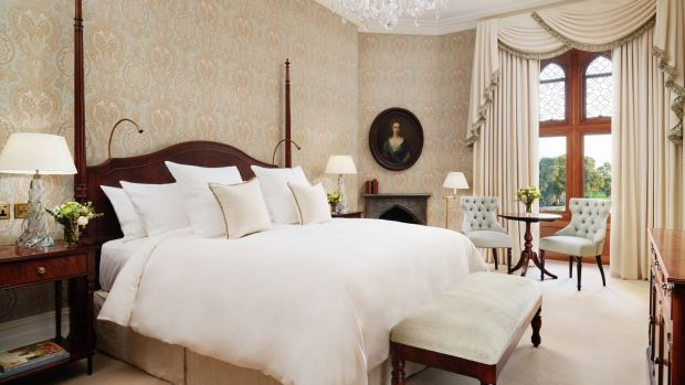 The Lady Augusta bedroom – all rooms have king- or super king-sized beds