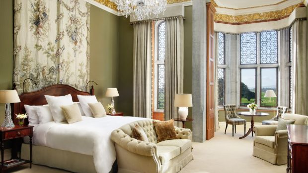 Lady Caroline Dunraven Suite, which overlooks the gardens and golf course, costs from €2,750 per night