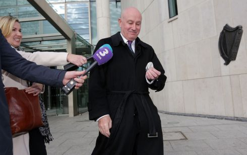ANGLO TRIAL: Former Anglo Irish Bank chief operations officer Tiarnan O'Mahoney leaves Dublin Circuit Criminal Court after the judge in his trial directed his acquittal on all charges. Photograph: Collins Courts