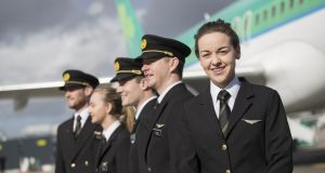 Recruitment drive: Aer Lingus is looking for experienced pilots to join the Irish airline. Photograph: Jason Clarke
