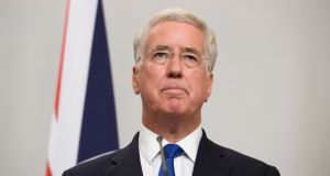 Sir Michael Fallon, who has announced his decision to resign as defence secretary. Photograph:  Leon Neal/PA Wire