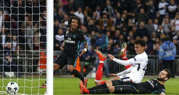 962825048 Tottenham Hotspur s Dele Alli slides in to score past Kiko Casilla during  their Champions League clash