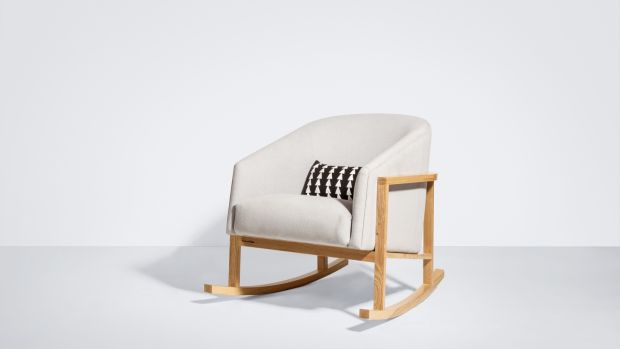 A Rosiline rocking chair in solid ash, birch or walnut from Bunny & Clyde (from €3,580)
