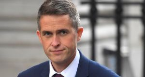 Britain's new secretary of state for defence Gavin Williamson keeps a pet tarantula called Cronus in his office. Photograph: Toby Melville/Reuters