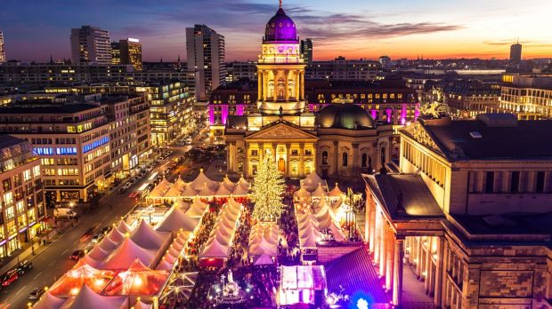 Visit the Christmas markets in Berlin, and take in the Gendarmenmarkt, one of the most popular
