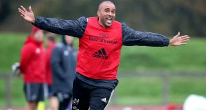 Simon Zebo starts for Munster against the Dragons on Friday night. Photograph: Bryan Keane/Inpho