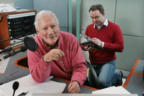 Gay Byrne and producer Alan Ryan on the Lyric programme at RTÉ in January 2010. Photograph: Matt Kavanagh/The Irish Times