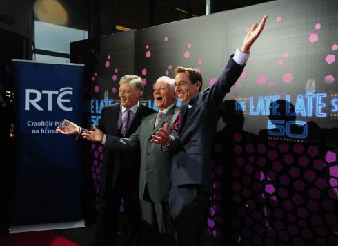 Pat Kenny, Gay Byrne and Ryan Tubridy at The Late Late Show 50th anniversary at RTé in June 2012. Photograph: Aidan Crawley/The Irish Times